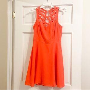 Guess Orange Cocktail Dress - Amazing Condition!